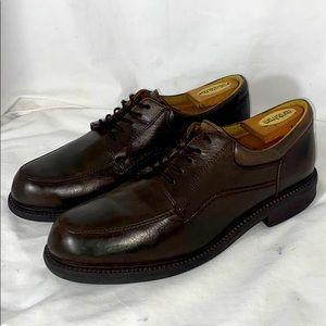 W. H. Prescott brown leather dress shoes size 10W